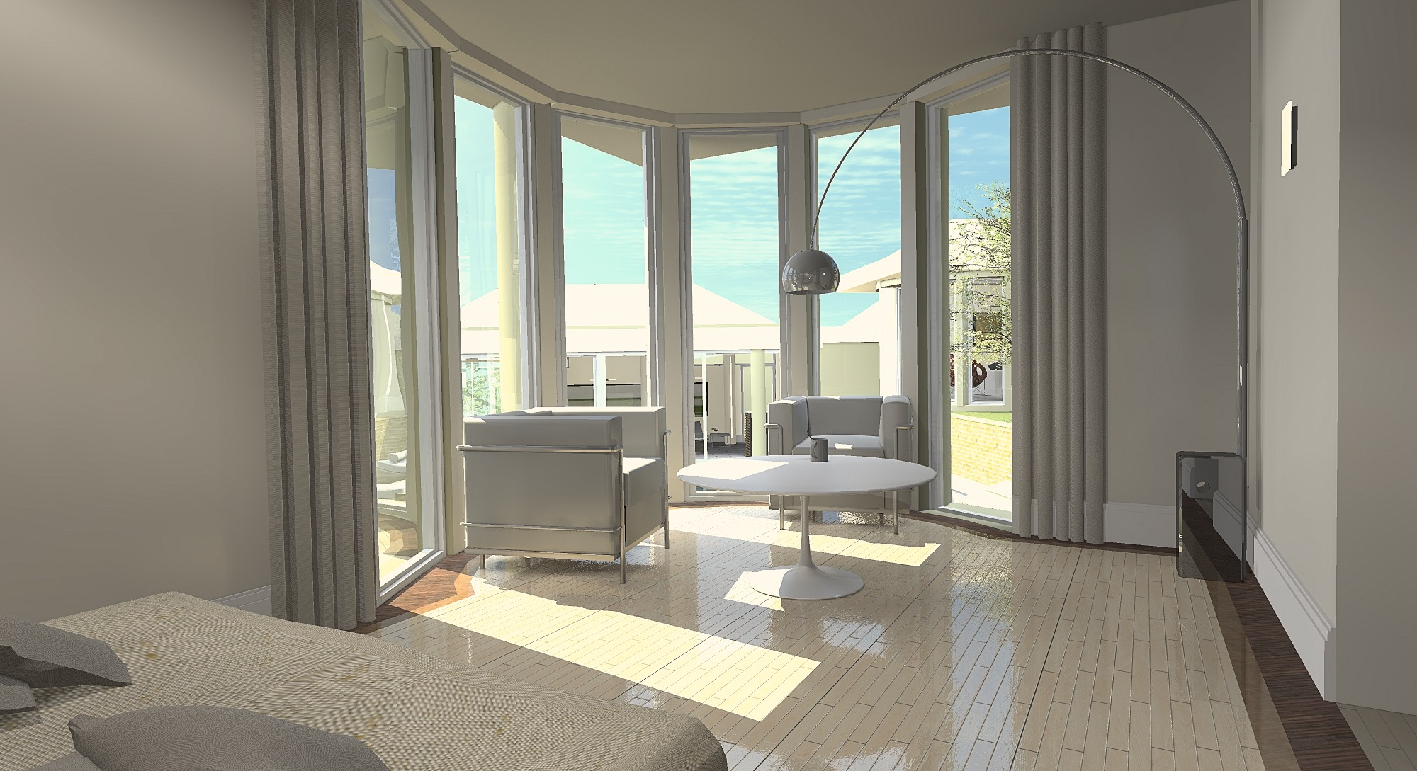 3D perspective chambre-3