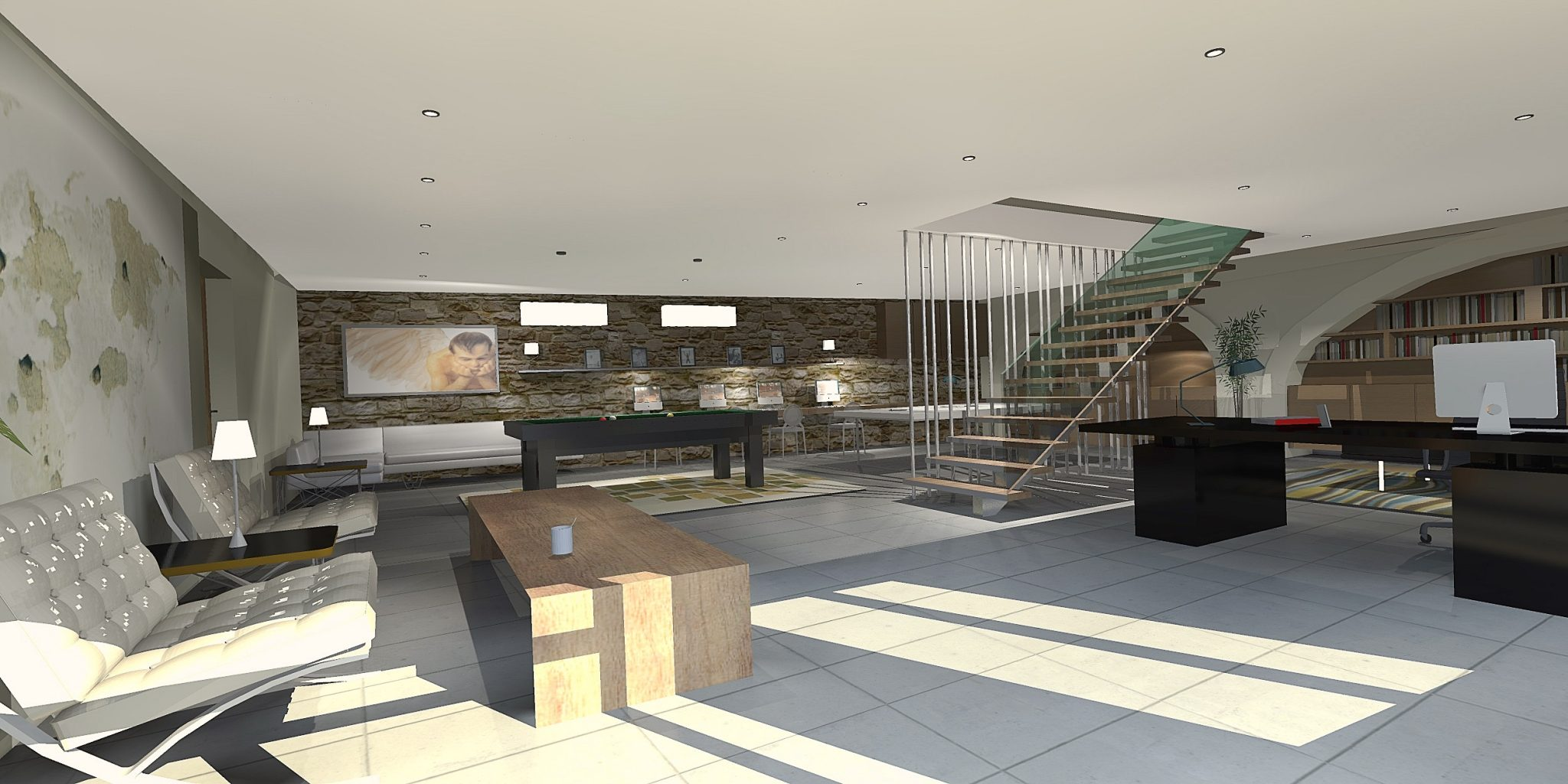 3D perspective interieur design 2