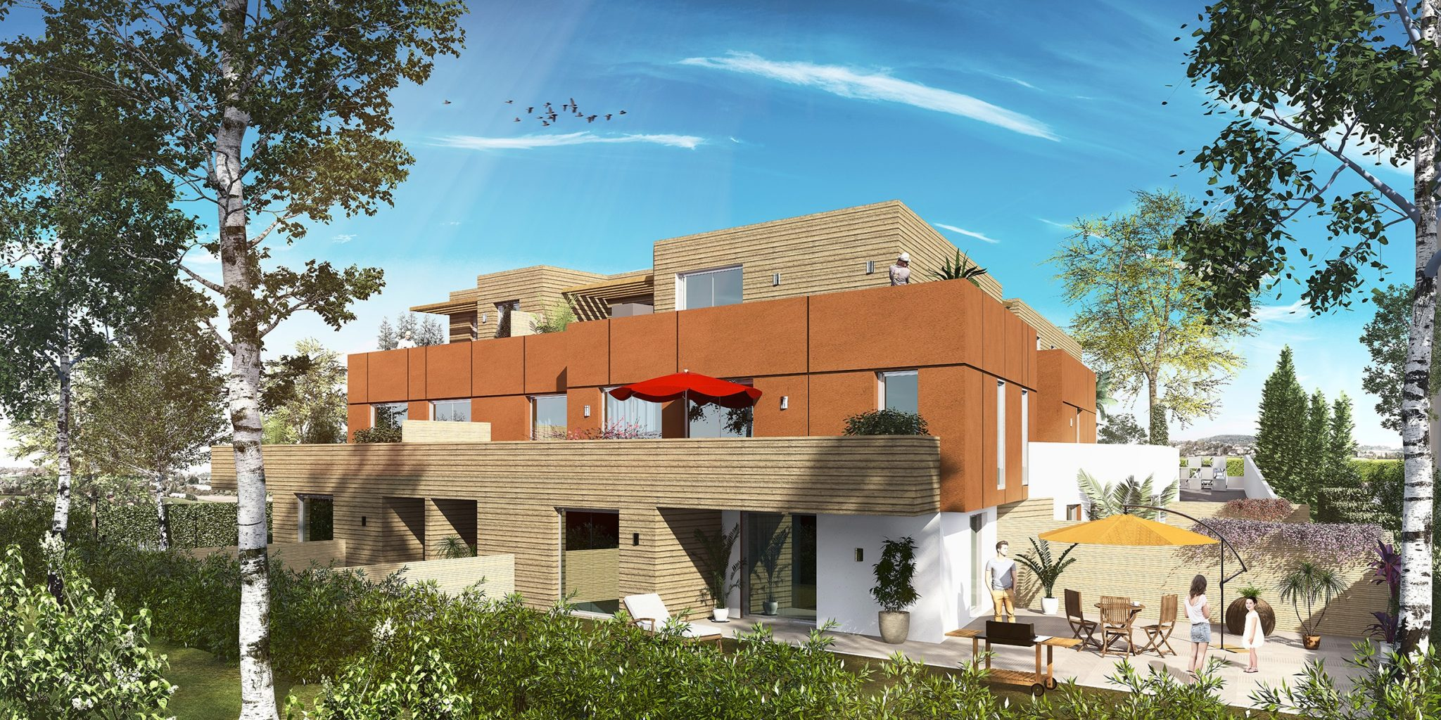 3D perspective Residence Montpellier 2