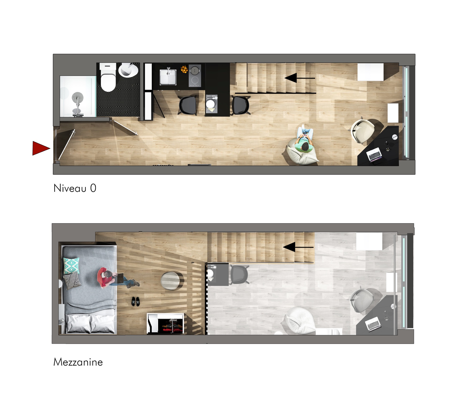 3D perspective plan studio_studio mezza